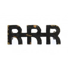 Royal Rhodesia Regiment (R.R.R.) Shoulder Title