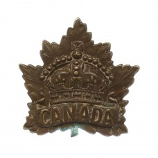 Canadian Canada WW1 General Service Cap Badge (P. Willis & Co 1914)