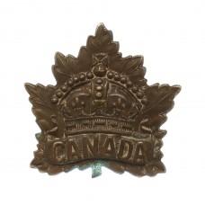 Canadian Canada WW1 General Service Cap Badge (P. Willis & Co