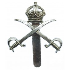 Army Physical Training Corps (A.P.T.C.) Chrome Cap Badge - King's