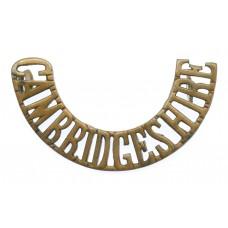 Cambridgeshire Regiment (CAMBRIDGESHIRE) Shoulder Title