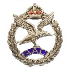 Army Air Corps Sterling Silver & Enamel Sweetheart Brooch