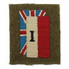 WW2 1st Polish Corps Cloth Formation Sign