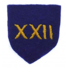 22nd Engineer Group Cloth Formation Sign (2nd Pattern)