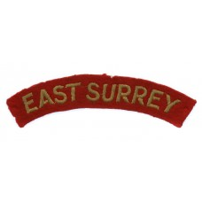 East Surrey Regiment (EAST SURREY) Cloth Shoulder Title