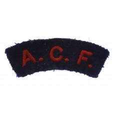 Army Cadet Force (A.C.F.) Cloth Shoulder Title