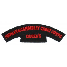 Frimley & Camberley Cadet Corps Queen's Cloth Shoulder Title