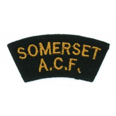 Somerset Army Cadet Force (SOMERSET/A.C.F.) Cloth Shoulder Title