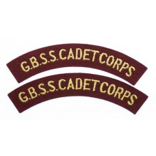Pair of Grenada Boys Secondary School Cadet Corps (G.B.S.S. CADET CORPS) Cloth Shoulder Titles