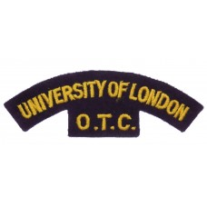 University of London O.T.C. (UNIVERSITY OF LONDON/O.T.C.) Cloth Shoulder Title