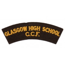 Glasgow High School Combined Cadet Force (GLASGOW HIGH SCHOOL/C.C.F.) Cloth Shoulder Title