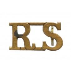 Royal Scots (R.S.) Brass Shoulder Title