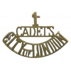 1st Cadet Bn. Royal Fusiliers (1/CADETS/CITY OF LONDON) Shoulder Title