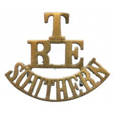 Territorial Southern Telegraph & Signal Companies Royal Engineers (T/R.E./SOUTHERN) Shoulder Title