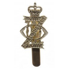 13th/18th Royal Hussars Anodised (Staybrite) Cap Badge