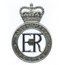 Northumbria Police Cap Badge - Queen's Crown