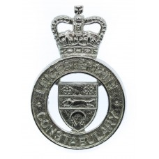 Leicestershire Constabulary Cap Badge - Queen's Crown