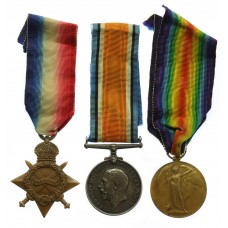WW1 1914-15 Star Medal Trio - Pte. H. Stead, King's Own Yorkshire