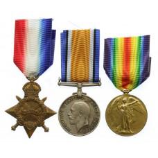 WW1 1914-15 Star Medal Trio - Cpl. F.T. Plummer, 11th Bn. A.I.F. (Gallipoli)