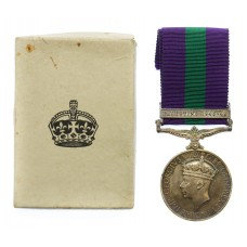 General Service Medal (Clasp - Palestine 1945-48) - Sigmn. G. Hanson, Royal Signals
