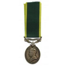 George VI Territorial Efficiency Medal - Pte. D. Robertson, Seaforth Highlanders