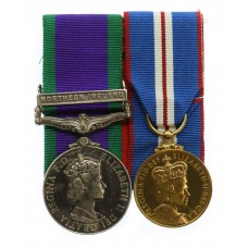 Campaign Service Medal (Clasp - Northern Ireland) & 2002 Golden Jubilee Medal - Gdsm. D. Church, Scots Guards