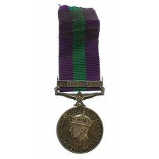 General Service Medal (Clasp - Palestine 1945-48) Pte. G. Price,