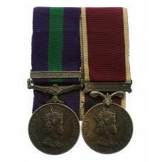General Service Medal (Clasp - Cyprus) and Army Long Service & Good Conduct Medal - Corporal of Horse W.J. Johnson, Royal Horse Guards