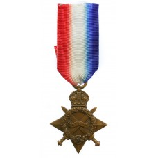 WW1 1914-15 Star - Pte. J. Winch, Northern Cyclist Battalion, Nor