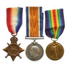 WW1 1914-15 Star Medal Trio - Pte. S. Hodgson, King's Own Yorkshire Light Infantry