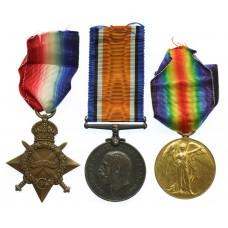 WW1 1914-15 Star Medal Trio - Pte. V. Snow, 8th Bn. Royal Lancaster Regiment