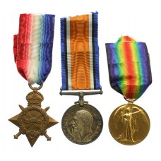 WW1 1914-15 Star Medal Trio - Cpl. T. Henton, 10th Bn. Northumberland Fusiliers - K.I.A.