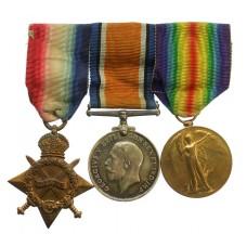 WW1 1914-15 Star Medal Trio - Dvr. H. Farrar, Royal Field Artillery