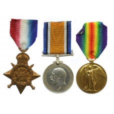 WW1 1914 Mons Star Medal Trio - Pte. J. Marshall, 10th Hussars - Twice Wounded