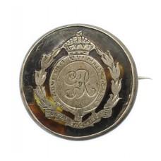 WW1 Royal Engineers 1916 Hallmarked Silver & Tortoiseshell Sweetheart Brooch