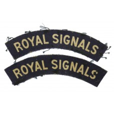Pair of Royal Corps of Signals (ROYAL SIGNALS) Printed Shoulder Title