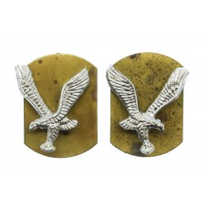 Pair of Army Air Corps Anodised (Staybrite) Collar Badges (2nd Pattern)