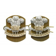 Pair of Pembroke Yeomanry Anodised (Staybrite) Collar Badges