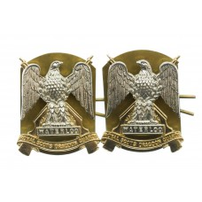 Pair of Royal Scots Dragoon Guards Anodised (Staybrite) Collar Badges