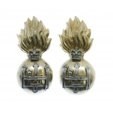 Pair of Royal Highland Fusiliers (R.H.F.) Anodised (Staybrite) Collar Badges