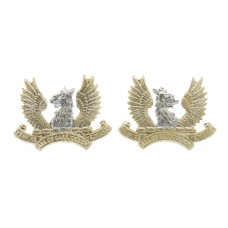 Pair of Ayrshire Yeomanry (Earl of Carrick's Own) Anodised (Staybrite) Collar Badges