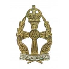 Queen Alexandra's Royal Army Nursing Corps (Q.A.R.A.N.C.) Officer's Cap Badge - King's Crown