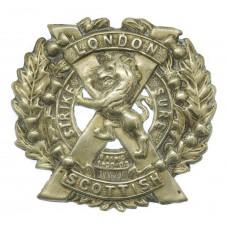 14th County of London Bn. (London Scottish) London Regiment Cap B