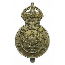 Salford City Police Cap Badge - King's Crown