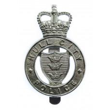 Hull City Police Cap Badge -Queen's Crown
