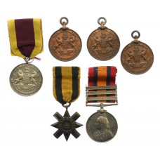 Ashanti Star 1896 and Queen's South Africa Medal (Clasps - Cape Colony, Tugela Heights, Relief of Ladysmith) with Four Sporting Medals - Company Sergeant Major W. Carter, Army Service Corps