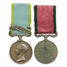 1854 Crimea Medal (Clasp - Sebastopol) and Turkish Crimea Medal Pair - Pte. W. Kennewell, 95th Regiment of Foot (Derbyshire)