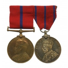 City of London Police 1902 and 1911 Coronation Medal Pair - P.S.