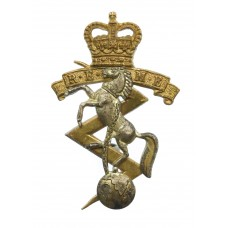 Royal Electrical & Mechanical Engineers (R.E.M.E.) Officer's Dress Cap Badge - Queen's Crown
