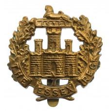 Essex Regiment WWI All Brass Economy Cap Badge